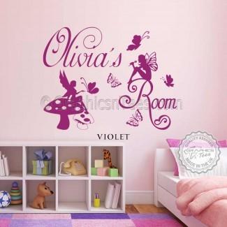 Pegatinas de pared personalizadas para habitación infantil para niñas ...