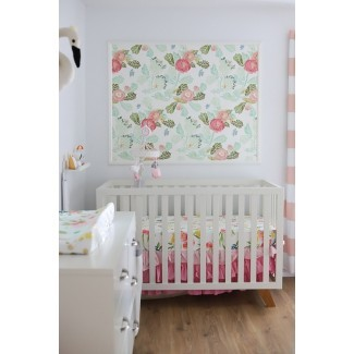 ¡Hermoso vivero temático floral! {Baby Girl Nursery with ...