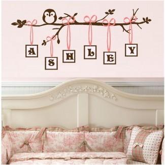 20 ideas de arte de pared para habitación de niña pequeña