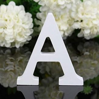 """Norbi Letras del alfabeto de madera Colgar en la pared 26 letras para la fiesta de cumpleaños de la boda Educación infantil Decoración del hogar (B) 15cm / 6 """""""