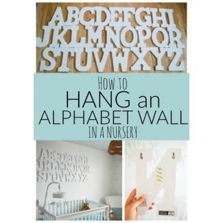 Cómo colgar una pared del alfabeto - Pasión DIY