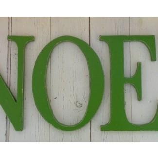 Artículos similares a letras de madera en dificultades, Shabby Chic ...