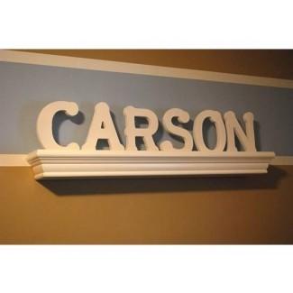 ¿Cómo colgar las letras de nombre en la pared de la guardería? - The Bump