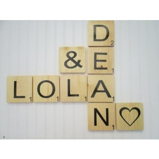 Azulejos grandes Scrabble para palabras nombres y por SouthernMadeSigns