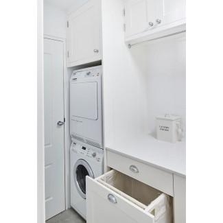 Extraiga el cajón del estante de secado y el gabinete del cesto inclinable