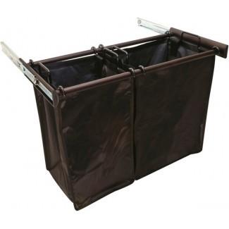 Cesto de ropa doble extraíble de 30 pulgadas en armario personalizado ...