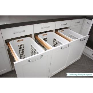 Contenedores de cesto extraíbles - Transicional - cuarto de lavado -