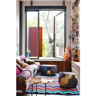 Sala de estar 5 lugares para alfombras coloridas de la sala de estar. Suave