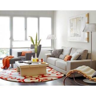 5 alfombras redondas y coloridas