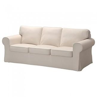 Funda de repuesto para el sofá IKEA Ektorp de 3 asientos sin chaise, beige lofallet