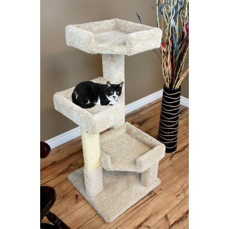 "46 ""New Cat Condos Solid Wood Triple Kitty Pad"