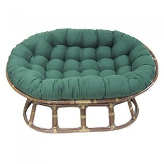 Agujas ardientes Cojín de silla doble Papasan de sarga sólida