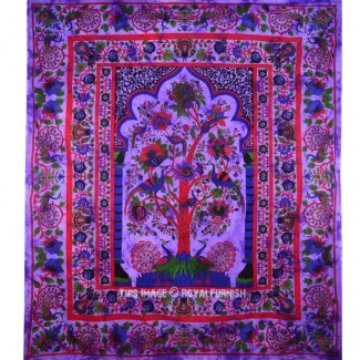 Queen Purple Tree Of Life Hippie Tapiz Tapiz ...