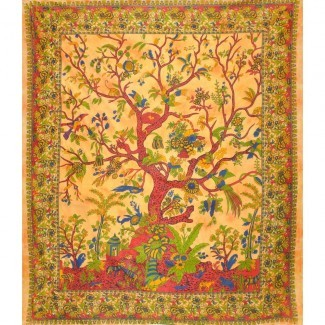 Tapiz de Tree of Life Tapiz amarillo Queen Size Large Wall