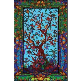 3D Color Tree Of Life Tapestry Beach Sheet Muro colgante