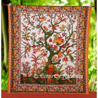 Tapiz Queen Tree Of Life Tapiz hippie bohemio ...