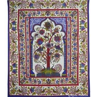 White Tree Of Life Dorm Room Decor Hippie Tapiz de pared