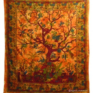 Queen Red Multiusos Hippie Tree Wall Hanging