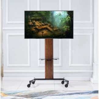 Mock Curved Flat Panel TV Stand para televisores de hasta 70 ""