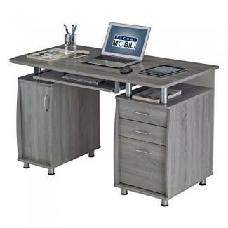 Techni Mobili Complete Workstation Computer Desk con cajones de almacenamiento
