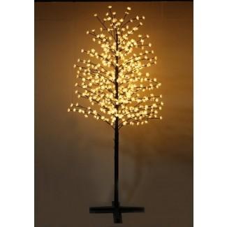 Árbol de cerezo al aire libre con flores y 488 luces LED