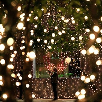 FARSIC Navidad luces solares de hadas LED - Cable de 40 pies