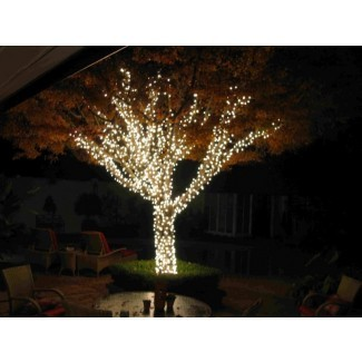 Luces de árbol al aire libre luces de cadena solares al aire libre para árboles ...