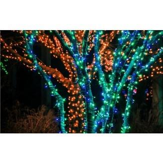 60 100 LED Luz de cuerda de energía solar Fiesta de bodas Navidad