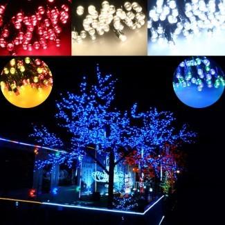 100/200 Luces LED de colores de la secuencia solar multi Navidad ...