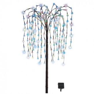 Decoraciones de exterior Artificial Willow Tree con Solar ...