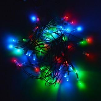 60 LED Luces de hadas solares Cadena de fiesta de Navidad al aire libre ...
