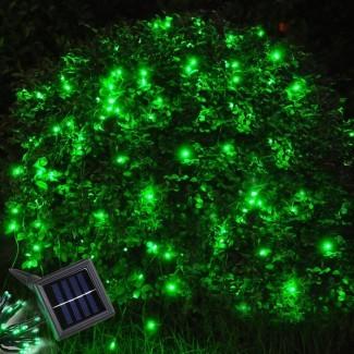 60 LED Cadena de luz solar al aire libre Jardín Navidad Boda ...