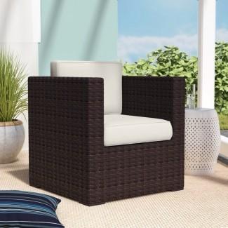 Neo Arm Chair Cojines de mimbre marrón de PVC [19659079] Neo Arm Chair - Cojines de mimbre marrón de PVC </div> </p></div> <div class=