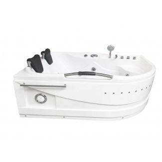 """Hidroterapia de masaje Calentador Cayman para 2 personas y Bluetooth Bañera de hidromasaje de esquina de 67 """"x 47"""""""