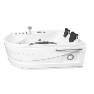 """Hidroterapia de masaje Calentador Maui para 2 personas y Bluetooth Bañera de hidromasaje de esquina de 67 """"x 47"""""""