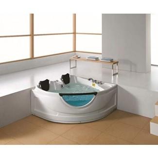 SDI Factory Direct 2 personas esquina Hidroterapia Bañera de hidromasaje Terapia de masaje Spa Bañera de hidromasaje con calentador. Luces LED, Bluetooth, control remoto - SYM150150A