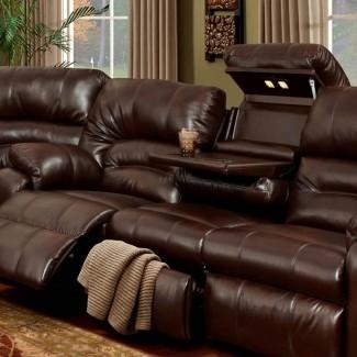 Sofá reclinable con mesa Sofá reclinable informal con pliegue ...
