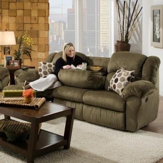 Franklin 691 92,5 pulgadas reclinable Sofá con pliegue incorporado