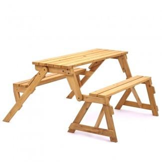 Muebles: inspiradora mesa de picnic convertible es perfecta ...