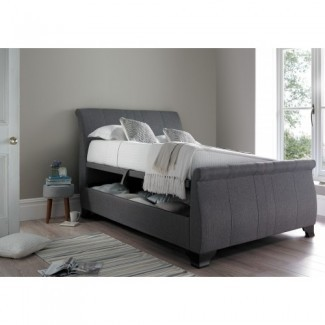 Kaydian Middleton Gray Ottoman King Size Sleigh Bed