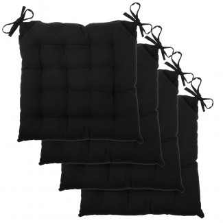 Almohadillas de silla 4pk Set Asiento acolchado de lona de algodón suave con mechones [19659018] Juego de almohadillas para silla de 4 piezas Asiento acolchado de lona de algodón suave con mechones ... </div> </p></div> <div class=