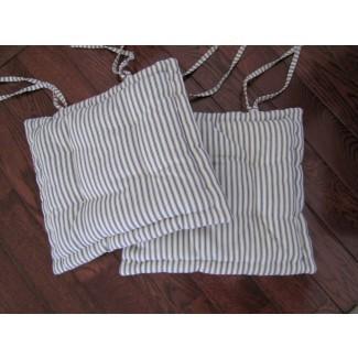 Cojín de silla de comedor con corbatas Cojín de silla personalizado hecho en