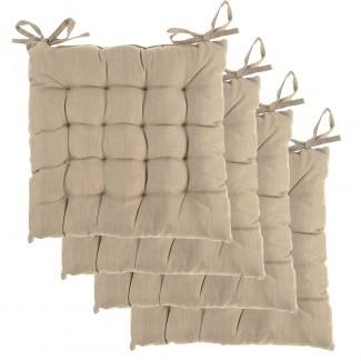 4pk Dream Home Almohadillas para silla de asiento cuadrado con cojín ...