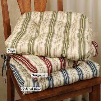 Cojines de silla de cocina con lazos | HomesFeed
