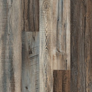 """Pryzm Elements of Heritage tablón de vinilo mixto de lujo SPC de 4.3 """"x 47.56"""" x 6.5 mm en marrón vintage"""