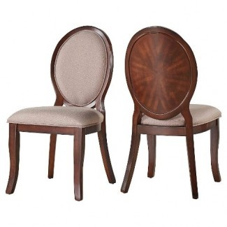 Hutton Formal Round Back Side Dining Chair Wood / ...: Target