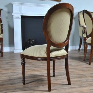 Silla lateral de caoba con respaldo redondo, muebles de Niágara, macizo ...