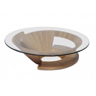 50 ideas de mesas de café de vidrio circular | Mesa de centro