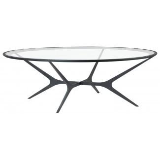 Mesas de café circulares populares de vidrio