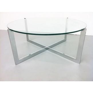 50 ideas de mesas de café circulares de vidrio | Mesa de centro